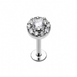 Super Bling Crystal Micro Labret Lip/Ear Piercings - 1.2mm