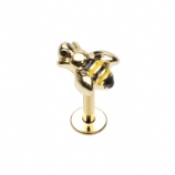 Queen Bee Helix / Tragus Labret Stud - 1.2mm