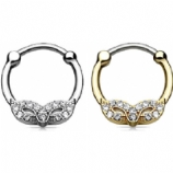 Masquerade Mask Septum Clicker Ring