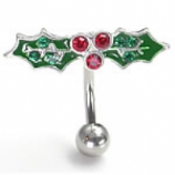 Holly & Berries Christmas Reverse Belly Bar