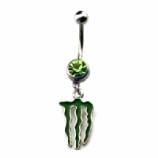Monster Logo Dangle Belly Bar
