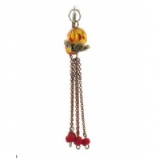 Amber & Long Chains Reverse Dangle Belly Bar