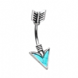 Turquoise Arrow Double Ended Belly Bar