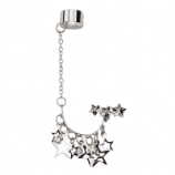 Star Chains Dangle Ear Cuff Lobe Piercing Chain - Only One Standard Ear Piercing Required