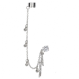 Lightning Bolt Dangle Ear Cuff Lobe Piercing Chain - Only One Standard Ear Piercing Required