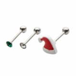 Christmas Helix Piercing Pack - Set of Three  Studs