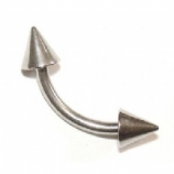 Curved Barbell - 1.6mm - Spike