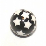 Star Print Ball For 1.6mm Body Bars
