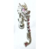 Dragon Reverse Dangle Belly Piercing Bar