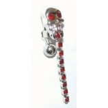 Skull Reverse Dangle Belly Piercing Bar
