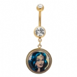Wonder Woman Dangle Licensed Official Belly Bar