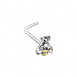Buzzy Bee Surgical Steel L-Bend Nose Stud