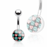 Hearts & Skulls Pixel Logo Belly Bar