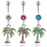 Palm Tree Dangle Belly Bar