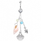 Beach Themed Dangle Belly Bar