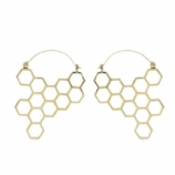 Honeycomb Ear Rings - Pair