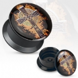 Celtic Cross Acrylic Screw On Flesh Plug 3mm - 20mm