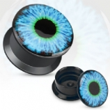 Blue Eye Acrylic Screw On Flesh Plug 3mm - 20mm