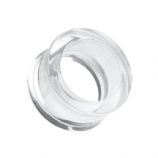 Clear Flared Acrylic Flesh Tunnel
