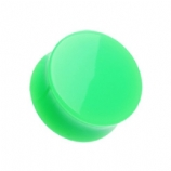 Giant Gauge Green Flared Acrylic Ear Plug 26mm - 50mm - Extra Wide