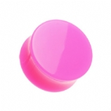 Giant Gauge Pink Flared Acrylic Ear Plug 26mm - 50mm - Extra Wide