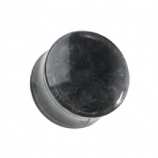 Black / Grey Ocean Swirl Marbled Acrylic Saddle Flesh Plug 6mm - 16mm
