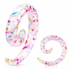Paint Splatter Printed Acrylic Spiral Taper 3mm-10mm