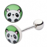 Panda Face Tongue Bar