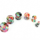 Glittery Candy Acrylic Saddle Plug