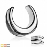 Plain Surgical Steel Saddle Spreader Tunnel Plug Weight for Stretched Ear Lobe