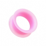 Pink Silicone Flexible Flesh Tunnel