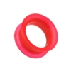 Red Silicone Flexible Flesh Tunnel