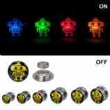 Light Up Robot Logo Plugs 8mm - 16mm (Pair)