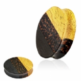 Triple Layered Oval Double Flared Wood Plug