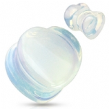 Opalescent Stone Heart Stone Flared Plug