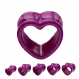 Purple Heart Flared Acrylic Tunnel 8mm-16mm