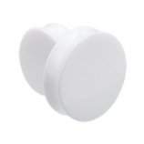 Giant Gauge White Flared Acrylic Ear Plug 26mm - 50mm - Extra Wide