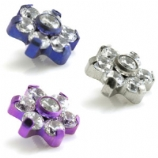 Flower Internally Threaded Titanium Attachment - 1.2mm