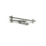 Double Spike Internally Threaded Titanium Straight Barbell - 1.2mm