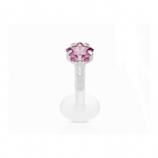 Star Crystal Push-Fit Flexi Lip Stud