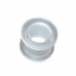Clear Acrylic Screw On Flesh Tunnel 3mm - 20mm