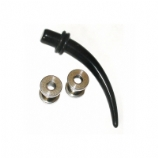 Black Taper & Two Tunnels Stretching Kit - Single Size - 1.6mm - 10mm