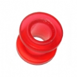 Red Acrylic Screw On Flesh Tunnel 4mm - 20mm