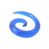 Blue Acrylic Ear Hook Spiral 3mm - 12mm