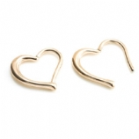 Rose Gold PVD Heart Shaped Surgical Steel Hinged Daith Ring Clicker