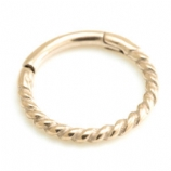 Twisted Look Rose Gold Steel Hinged Segment Ring