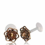 Rose Bronze Floral Ornate Design Push-Fit Flexi Micro Labret