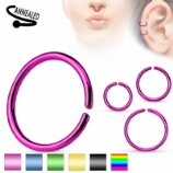 Coloured Surgical Steel Seamless Ring