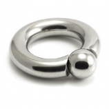 Heavy Gauge Thick BCR Ring - Screw On Ball - 12mm Thick