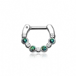 Black Opal Sparkle Septum Clicker Ring